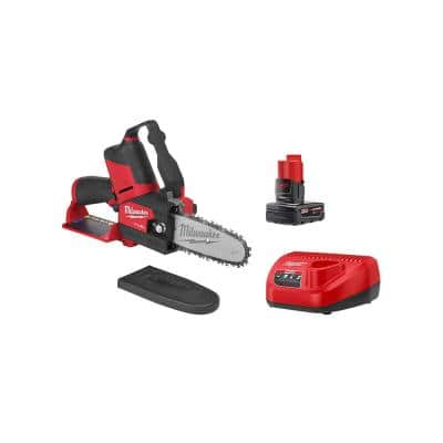 M12 FUEL 12-Volt Lithium-Ion Brushless Cordless 6 in. HATCHET Pruning Saw Kit with 4.0 Ah Battery and Charger
