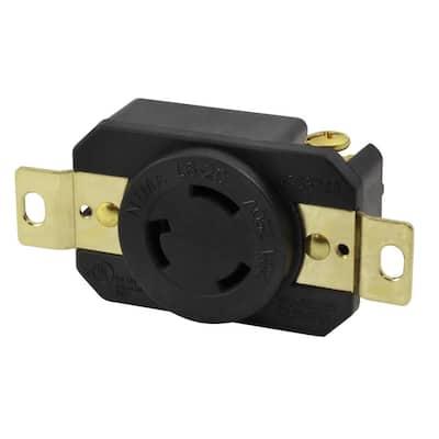 20-Amp 250-Volt NEMA L6-20R Flush Mounting Locking Industrial Grade Receptacle