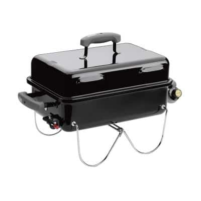 Go-Anywhere 1-Burner Portable Propane Gas Grill in Black
