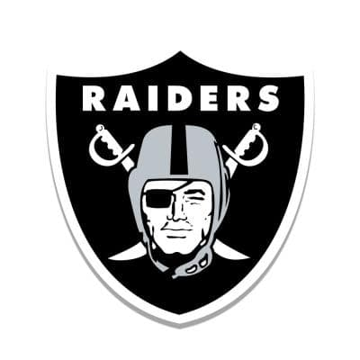 NFL Indoor Oakland Raiders Distressed Logo Cutout Wood Sign