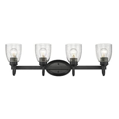 Parrish 4-Light Black Bath Light