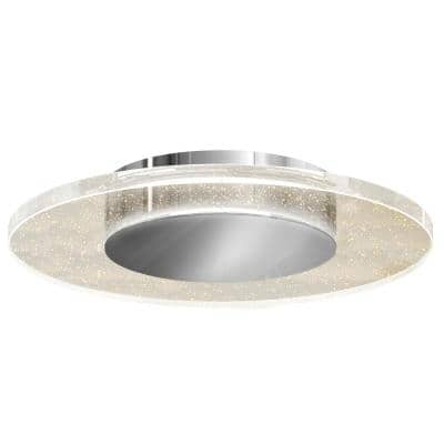 Essence Disk 13 in. 1-Light Chrome Integrated LED Flush Mount
