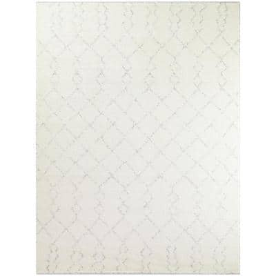 Reeves Ivory 8 ft. x 10 ft. Moroccan Trellis Area Rug