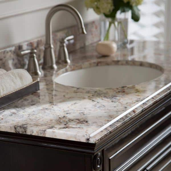 Home Decorators Collection 49 In Stone Effects Vanity Top In Rustic Gold With White Sink Seo4922com Ru The Home Depot