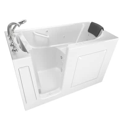 Gelcoat Premium Series 60 in. Left Hand Walk-In Whirlpool and Air Bathtub in White