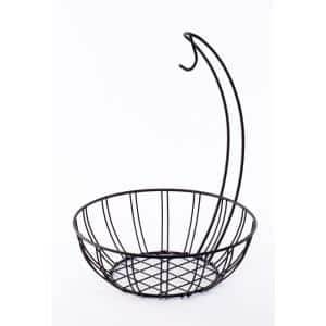 Wire Metal Fruit basket Holder with Banana Hanger
