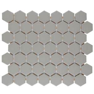 Restore Matte Natural Gray Hexagon 10 in. x 12 in. x 6mm Glazed Ceramic Mosaic Tile (0.81 sq. ft.)