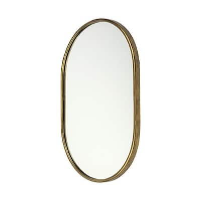 Medium Oval Gold Classic Mirror (36.0 in. H x 24.3 in. W)