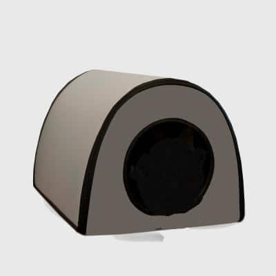 21 in. x 14 in. x 13 in. 25-Watt Gray Mod Thermo-Kitty Shelter