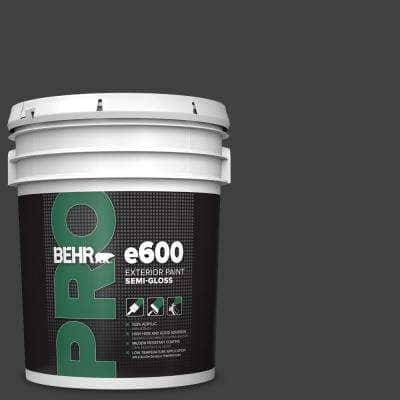 5 gal. #1350 Ultra Pure Black Semi-Gloss Acrylic Exterior Paint