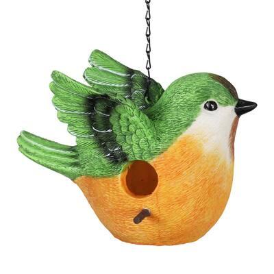 Peach Bird Resin Birdhouse