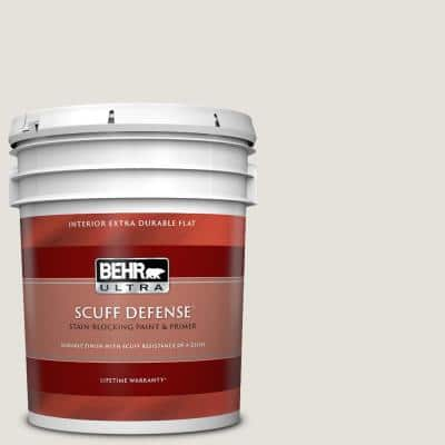 5 gal. #PPU18-08 Painters White Extra-Durable Flat Interior Paint & Primer