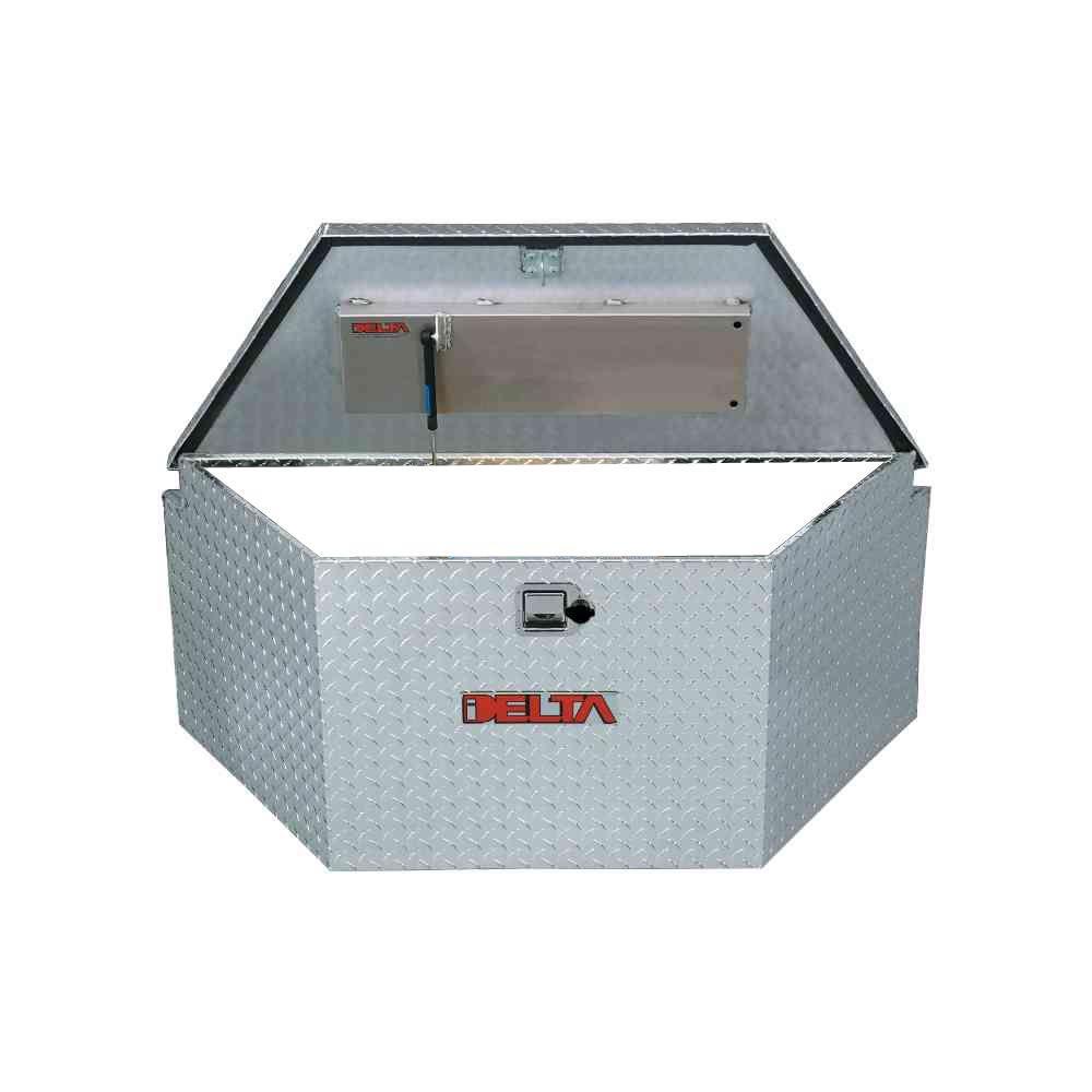 33 Diamond Plate Aluminum  Trailer Tongue Truck Tool Box