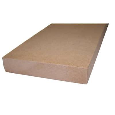 3/4 in. x 15-1/4 in. x 4 ft. Shelving MDF Board