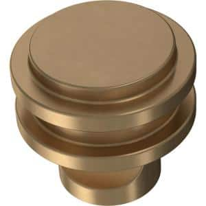 Classic Ringed 1-1/4 in. (32 mm) Champagne Bronze Cabinet Knob