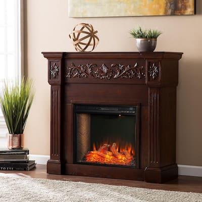 Stanton Alexa Enabled 44.5 in. W Electric Smart Fireplace in Rich Espresso