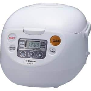 Micom 5-Cup Cool White Rice Cooker and Warmer with Built-In Timer