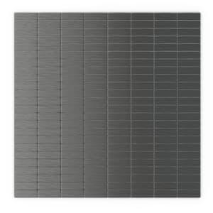 Urbain DG Dark Gray 11.42 in. X 11.57 in. X 5 mm Metal Self-Adhesive Wall Mosaic Tile (22.08 sq.ft. /case)