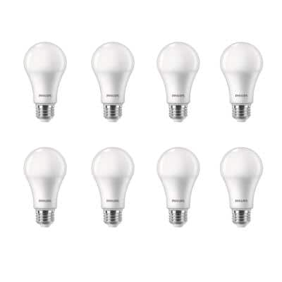 100-Watt Equivalent A19 Dimmable with Warm Glow Dimming Effect Energy Saving LED Light Bulb Soft White (2700K) (8-Pack)