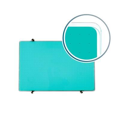 Viztex® Glacier 30 in. x 40 in.Teal Multi-Purpose Grid Glass Dry Erase Board