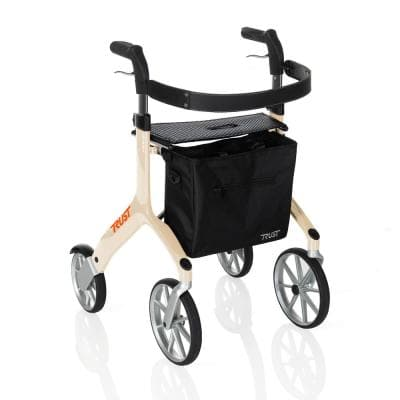 4-Wheels Let's Fly Rollator with in Beige