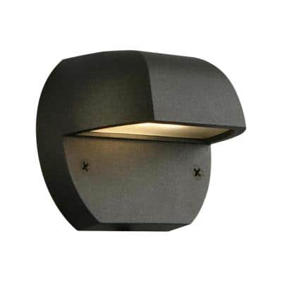Low-Voltage Black Outdoor Integrated LED Surface Mount Light