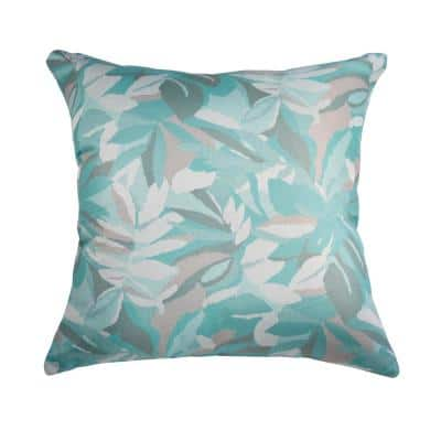 Dewey Spa Square Outdoor Accent Lounge Throw Pillow