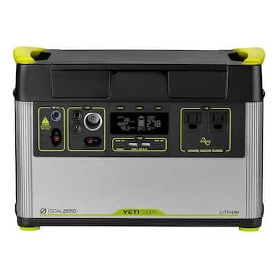 Yeti 1500X Portable Power Station 1516Wh Lithium Battery Generator 2000 Watt AC Inverter Home Backup Solar Generator