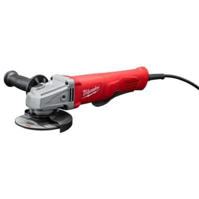 11 Amp Corded 4-1/2 in. Small Angle Grinder Paddle No-Lock