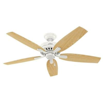 Newsome 52 in. Indoor Fresh White Ceiling Fan with Remote