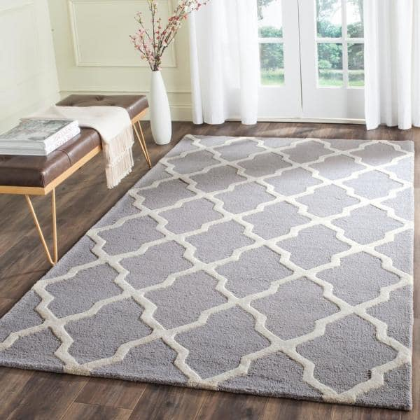 Safavieh Cambridge Silver Ivory 4 Ft X 6 Ft Area Rug Cam121d 4 The Home Depot