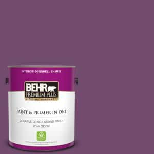 Behr Premium Plus 1 Gal Pmd 87 Exotic Orchid Eggshell Enamel Low Odor Interior Paint And Primer In One 230001 The Home Depot