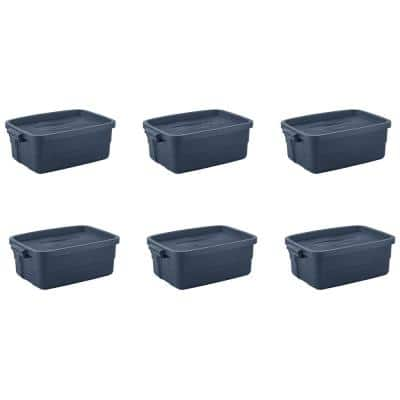 Roughneck 10 Gal. Rugged Stackable Storage Tote Container (6-Pack)