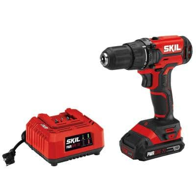PWRCORE 20-Volt Lithium-Ion Cordless 1/2 in. Drill Driver Kit