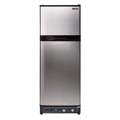 9.7 cu. ft. Propane Top Freezer Refrigerator Dual Powered in Stainless Steel