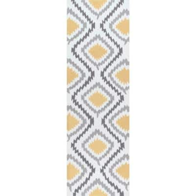 Matthieu Tribal Sunflower 3 ft. x 8 ft. Runner