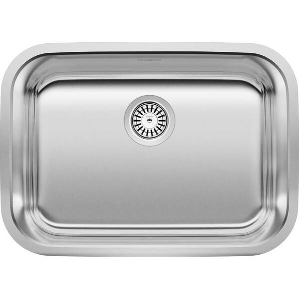 Blanco Stellar Undermount Stainless Steel 25 In Single Bowl Kitchen Sink 441025 The Home Depot