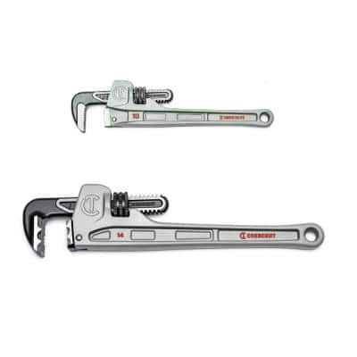 Aluminum Pipe Wrench Combo Set (2-Piece)