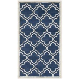 Amherst Navy/Ivory 3 ft. x 4 ft. Area Rug