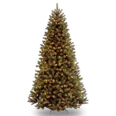 National Tree Company 9 Ft North Valley Spruce Hinged Tree With 900 Clear Lights Nrv7 308 90 The Home Depot