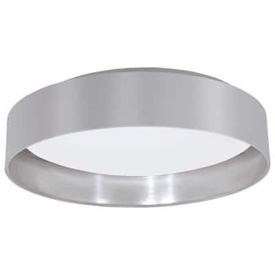 Maserlo Silver and Satin Nickel Integrated LED Ceiling Light