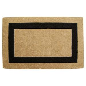 Single Picture Frame Plain Black 30 in. x 48 in. HeavyDuty Coir Door Mat