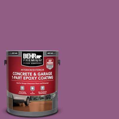 1 gal. #OSHA-4 OSHA SAFETY PURPLE Self-Priming 1-Part Epoxy Satin Interior/Exterior Concrete and Garage Floor Paint