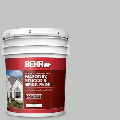 5 gal. #MS-66 New England Grey Satin Interior/Exterior Masonry, Stucco and Brick Paint