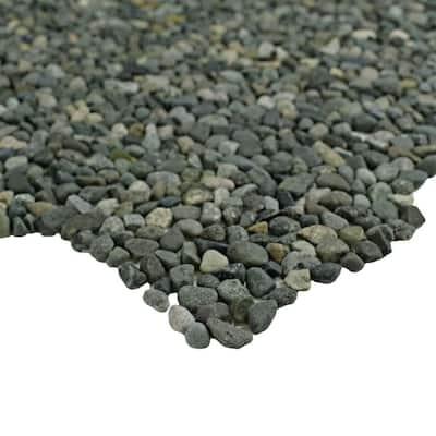 Pebblini Mini Olive 12 in. x 12 in. Pebble Stone Mosaic Tile (10.63 sq. ft. / Case)