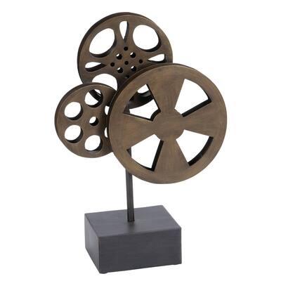 Bronze and Black Vintage Movie Reels Decor
