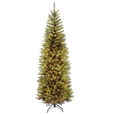6.5 ft. Kingswood Fir Pencil Artificial Christmas Tree with Clear Lights