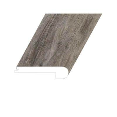 Manifesto Grand Bistre 1 in. Thick x 4.5 in. Wide x 94.5 in. Length Vinyl Flush Stair Nose Molding