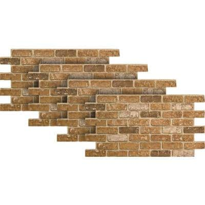 Weathered Orange 24 in. x 46-3/8 in. Faux Used Brick Panel (4-Pack)
