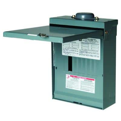 QO 100 Amp 8-Space 16-Circuit Outdoor Main Lug Load Center with Cover